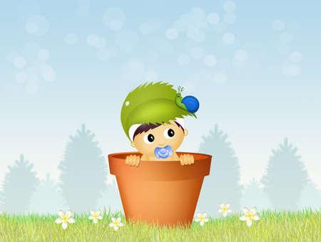 cute baby male Stock Photo