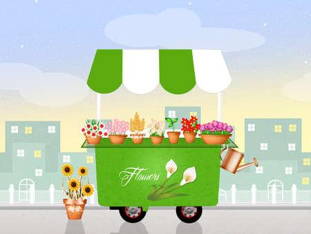 florist: florist cart