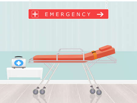 outpatient: emergency room Stock Photo