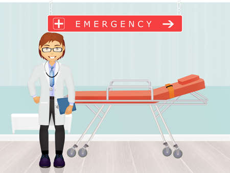 outpatient: doctor in the emergency room