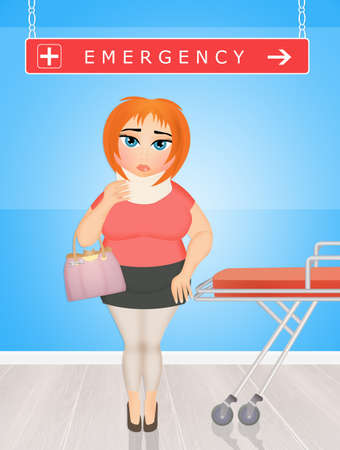girl in the emergency room Stock Photo