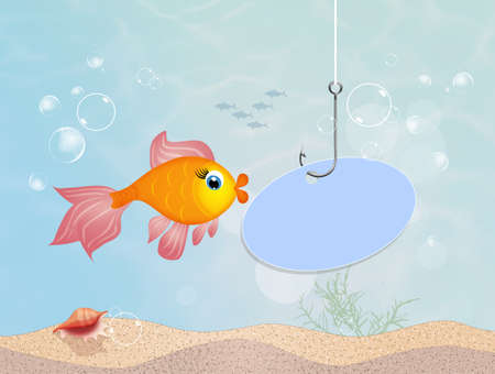 red fish in the sea Stock Photo