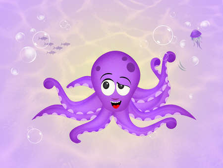 octopus on the seabed