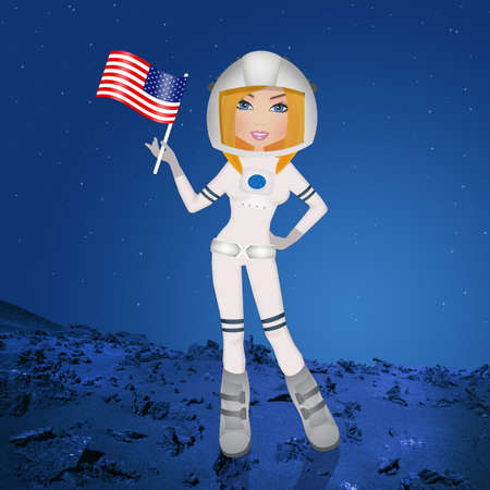 Astronaut girl to Mars