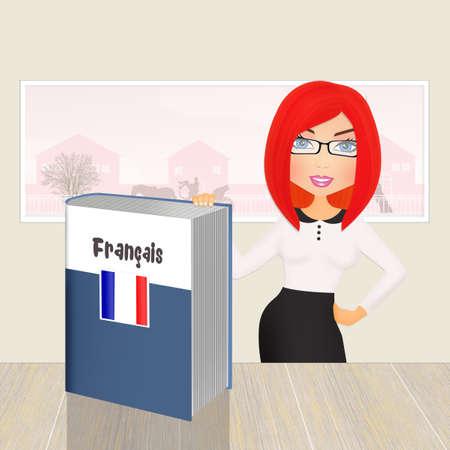 French language course Stock Photo