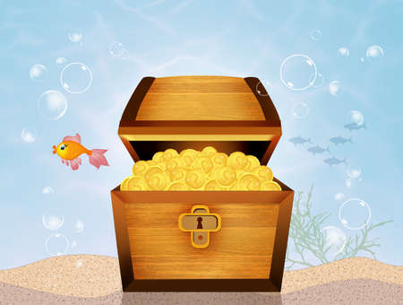 treasure chest on seabed