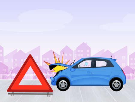 crashed: crashed car Stock Photo
