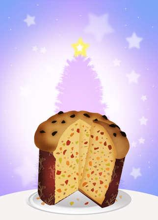 Italian panettone at Christmas