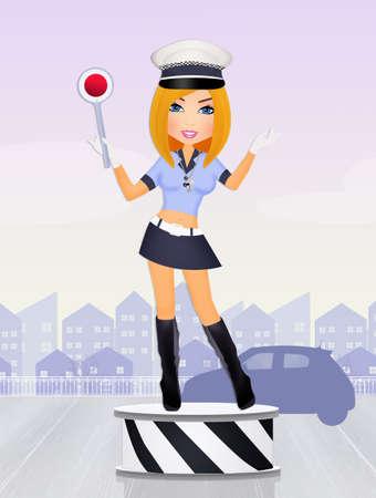 Traffic agent girl