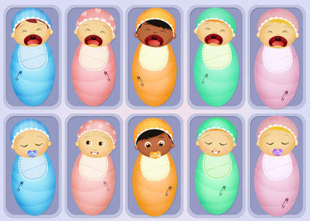 swaddling clothes: babies in the nursery