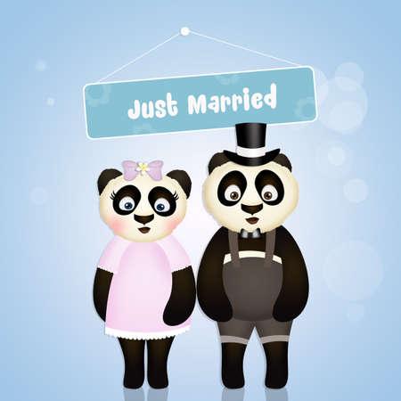 Pandas enamorados Foto de archivo - 78625618