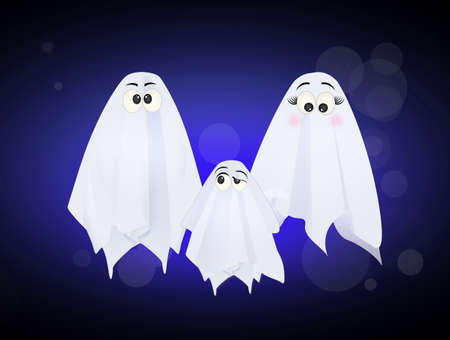 illustration of ghosts