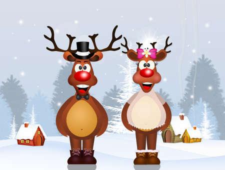 reindeer couple spouses