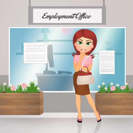 employment office Stock Photo