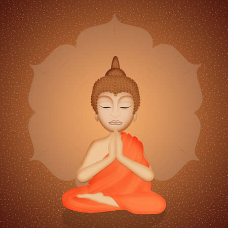 illustration of Buddha statue
