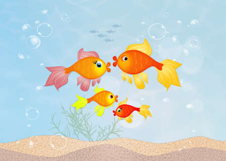 red fishes family