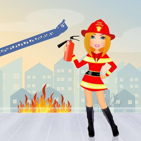 fireman: Firefighter woman