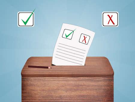 symbolics: ballot vote box