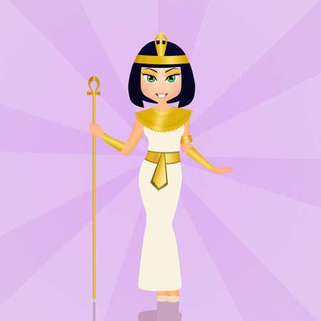 ojo de horus: divertida Cleopatra egipcia
