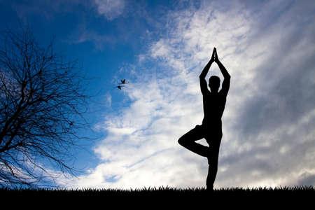 meditation man: meditation in the nature