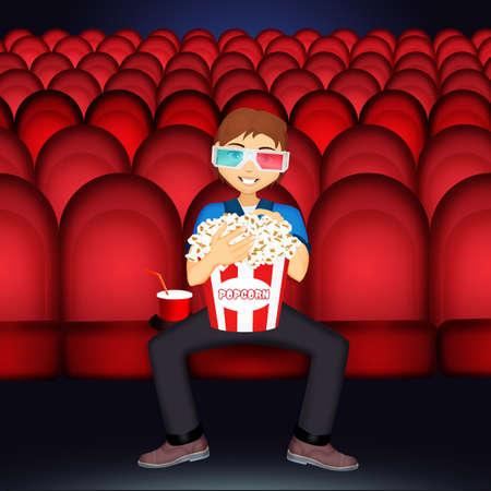 Man sitting at the cinema