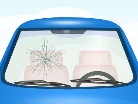 windshield Repair Stock Photo