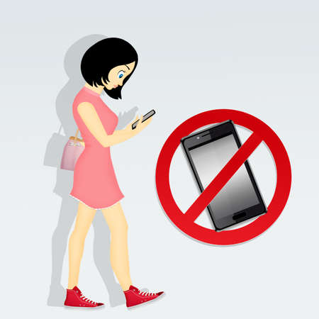Restrictions on cell phone Stock Photo - 83492488