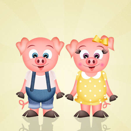 pigs couple