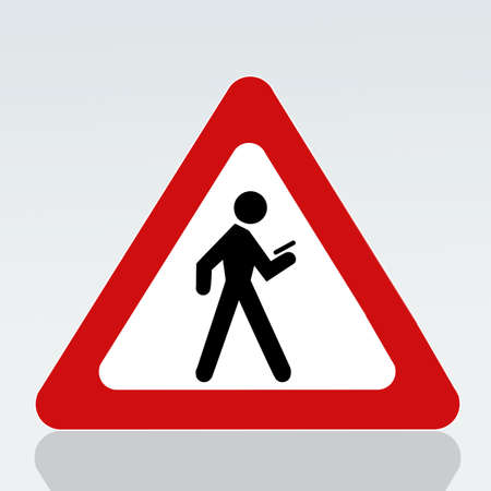use prohibited on walking cell phone Stock Photo