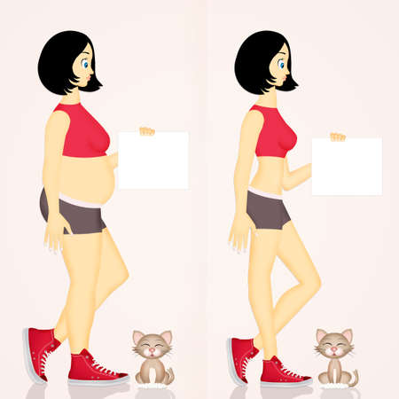 funny illustration of diet Stock Illustration - 84402396