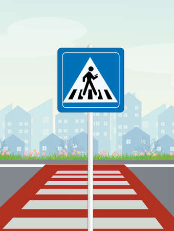 prohibition for walking with smartphone on pedestrian crossings