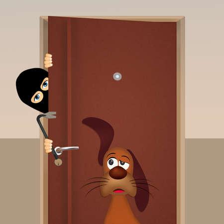 door handle: Dog thieves