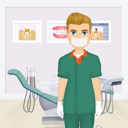 illustratie van tandarts Stockfoto
