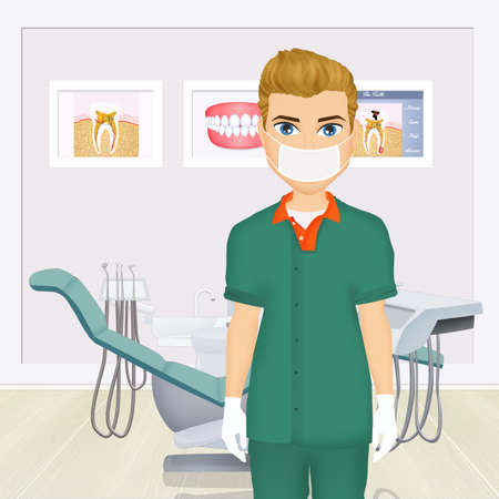 illustration of dentist Stock Photo