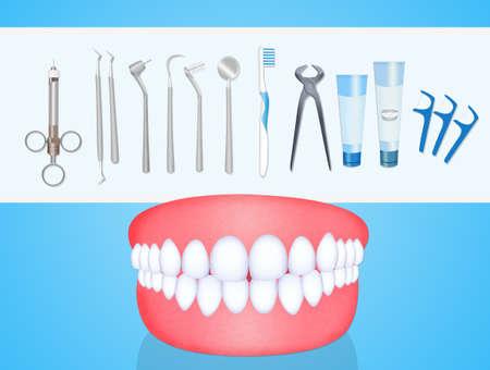 hulpmiddelen van de tandarts Stockfoto