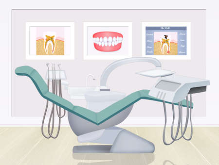 illustration of dentist studio