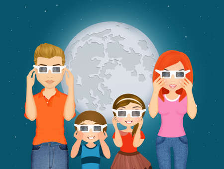 happy family look the eclipse
