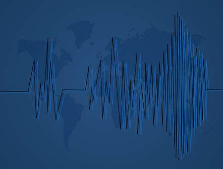 illustratie van aardbevingen