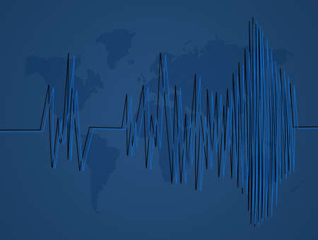 illustration of earthquakes Stock Photo