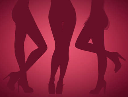legs of women with sexy underwear Stock Photo