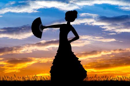 Flamenco girl dancers
