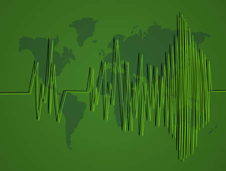 seismic activity Stock Photo