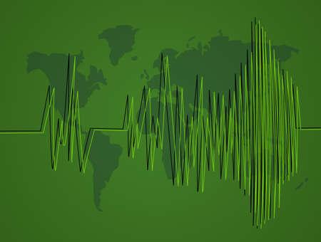 Seismische activiteit Stockfoto - 86967911