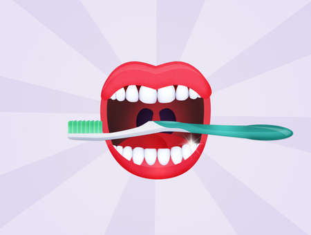 mouth open with clean teeth Stock Photo - 86967914