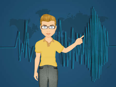 seismische activiteit Stockfoto