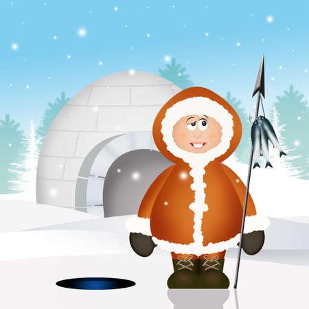 humor: Eskimo and igloo