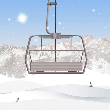 illustration of ski lift