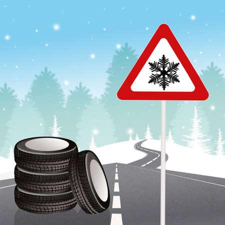 Winterbanden Stockfoto - 86967950