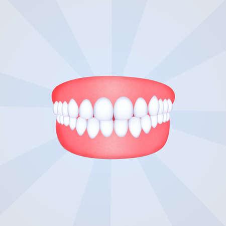 illustratie van valse tanden Stockfoto