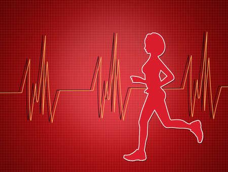 illustration of electrocardiogram Stock Photo